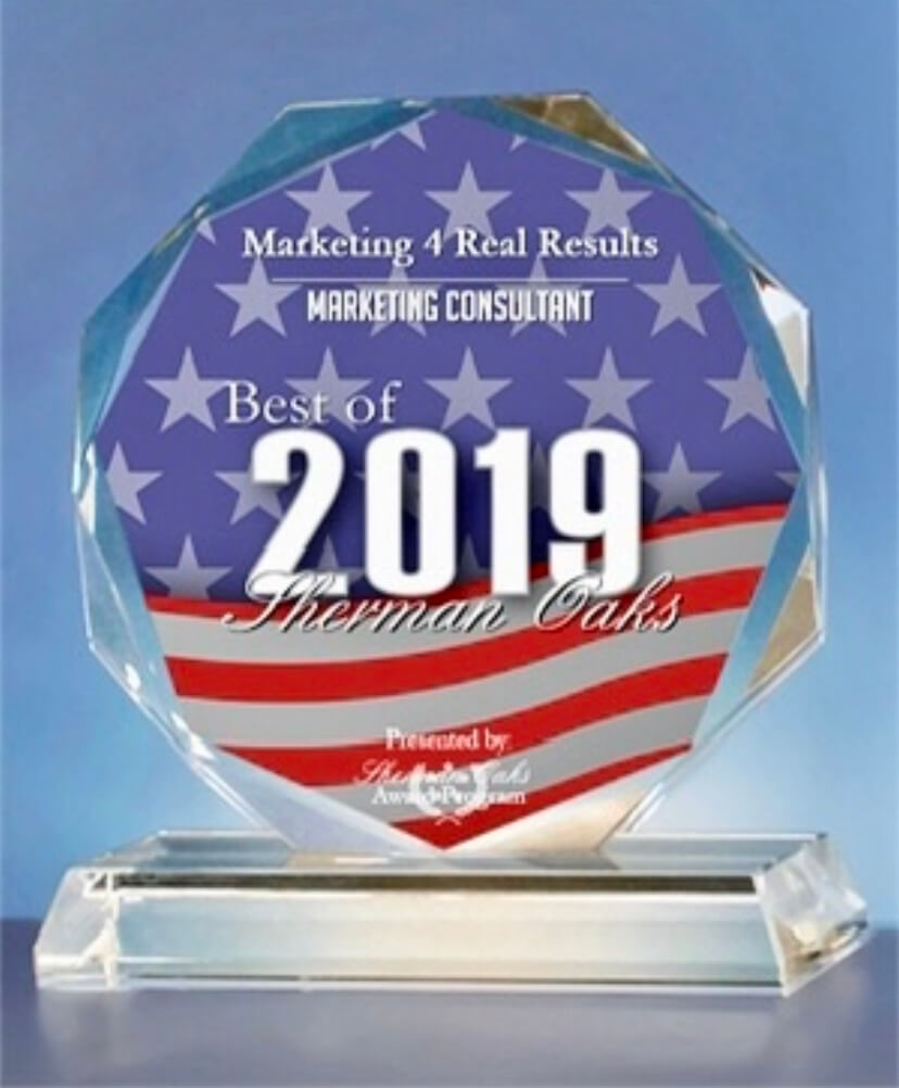 Marketing Consultants Award Sherman Oaks 2019
