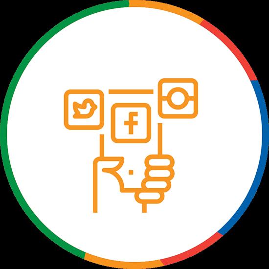 Social Media Marketing Icon M4rr